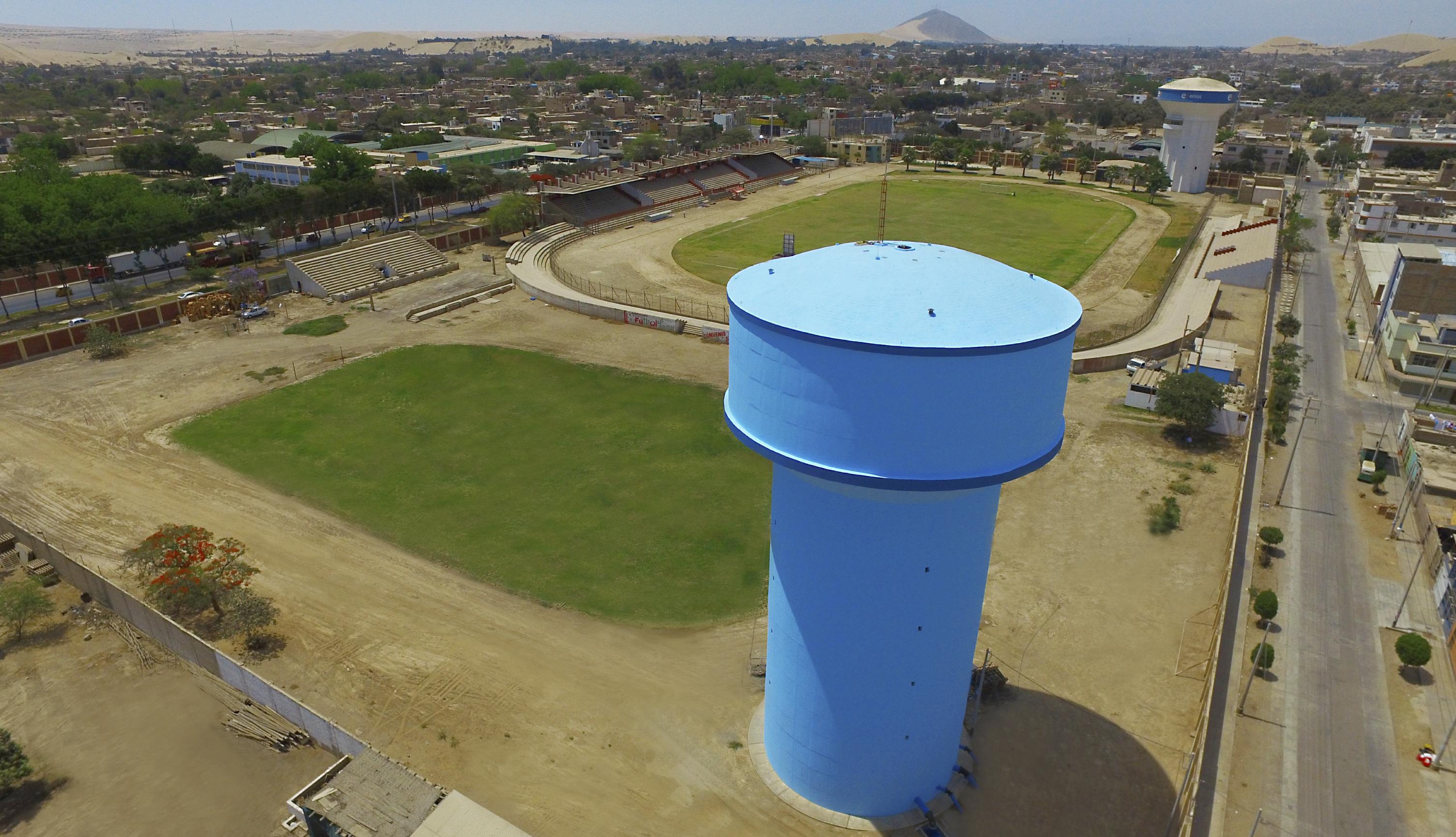 Construcción de Reservorio Estadio Picasso Peratta – Ica